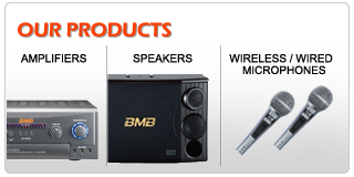 BMB Karaoke System - Karaoke Amplifiers, Karaoke speakers, Karaoke wireless / wired microphones